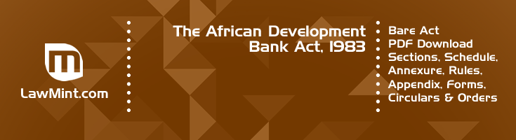 The African Development Bank Act 1983 Bare Act PDF Download 2