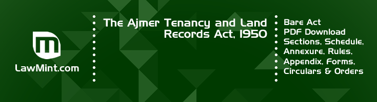 The Ajmer Tenancy and Land Records Act 1950 Bare Act PDF Download 2