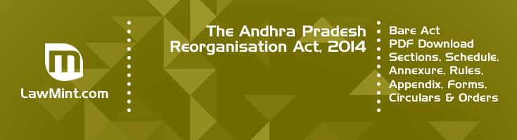 The Andhra Pradesh Reorganisation Act 2014 Bare Act PDF Download 2