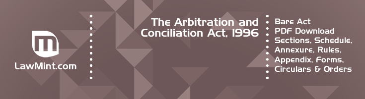 The Arbitration and Conciliation Act 1996 Bare Act PDF Download 2