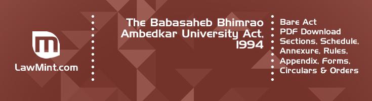 The Babasaheb Bhimrao Ambedkar University Act 1994 Bare Act PDF Download 2