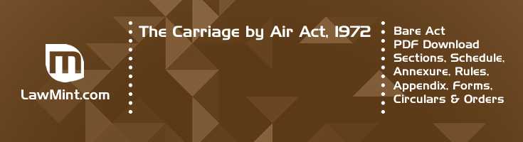 The Carriage by Air Act 1972 Bare Act PDF Download 2