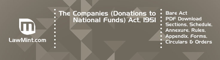 The Companies Donations to National Funds Act 1951 Bare Act PDF Download 2