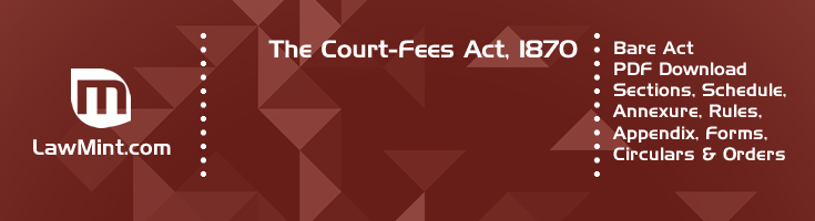 The Court Fees Act 1870 Bare Act PDF Download 2