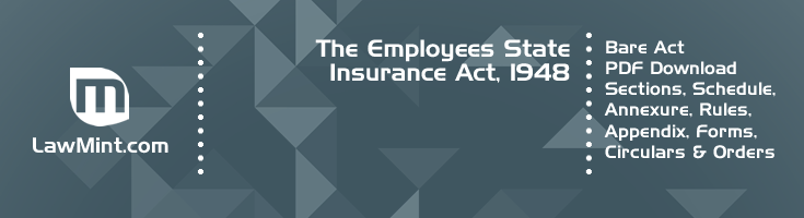The Employees State Insurance Act 1948 Bare Act PDF Download 2