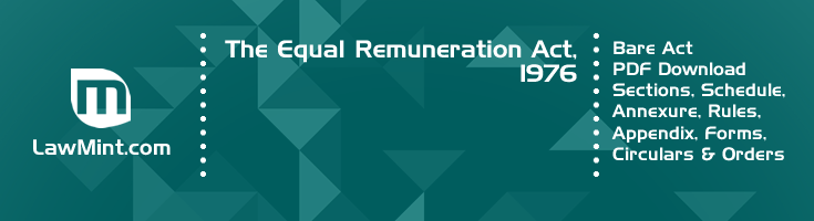 The Equal Remuneration Act 1976 Bare Act PDF Download 2