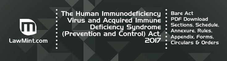 The Human Immunodeficiency Virus and Acquired Immune Deficiency Syndrome Prevention and Control Act 2017 Bare Act PDF Download 2