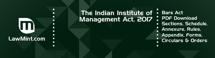 The Indian Institute of Management Act 2017 Bare Act PDF Download 2