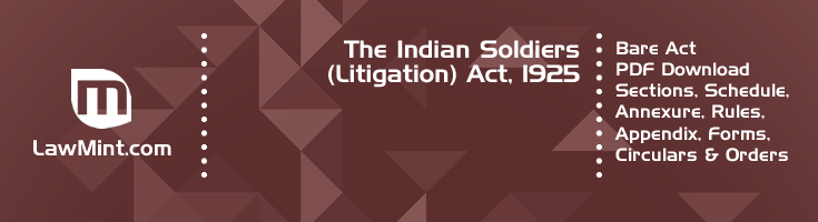 The Indian Soldiers Litigation Act 1925 Bare Act PDF Download 2