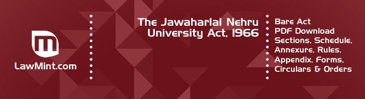The Jawaharlal Nehru University Act 1966 Bare Act PDF Download 2