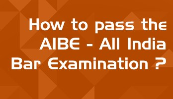 How to pass the aibe all India bar exam lawmint online mock test series