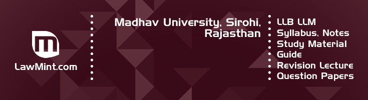 Madhav University LLB LLM Syllabus Revision Notes Study Material Guide Question Papers 1