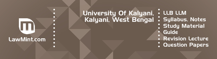 University Kalyani LLB LLM Syllabus Revision Notes Study Material Guide Question Papers 1