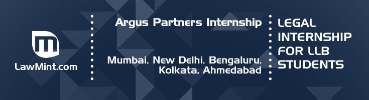 argus partners internship application eligibility experience mumbai new delhi bengaluru kolkata ahmedabad