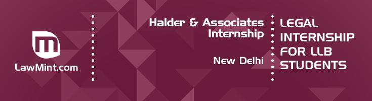 halder and associates internship application eligibility experience new delhi