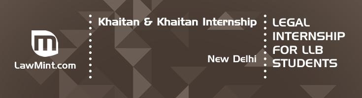 khaitan and khaitan internship application eligibility experience new delhi