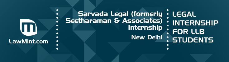 sarvada legal formerly seetharaman and associates internship application eligibility experience new delhi