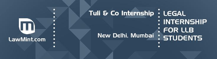tuli and co internship application eligibility experience new delhi mumbai