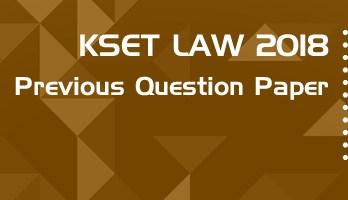 KSET Law 2018 Previous Question Paper Mock Test Model Paper Series