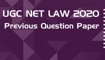 UGC NET Law 2020 Previous Question Paper Mock Test Model Paper Series