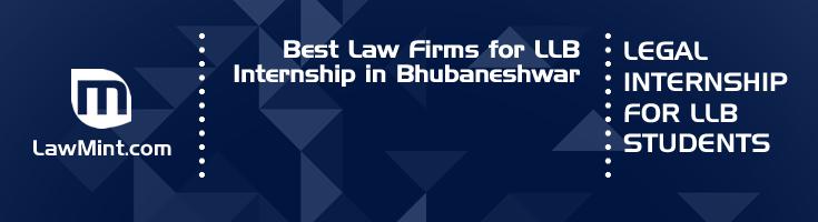 Best Law Firms for LLB Internship in Bhubaneshwar Law Student Internships