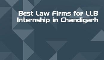 Best Law Firms for LLB Internship in Chandigarh Law Student Internships