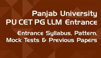Panjab University PU CET PG LLM Entrance Syllabus Pattern Mock Tests Previous sample Papers