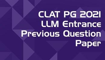CLAT PG LLM 2021 Previous Question Paper Mock Test Series LawMint