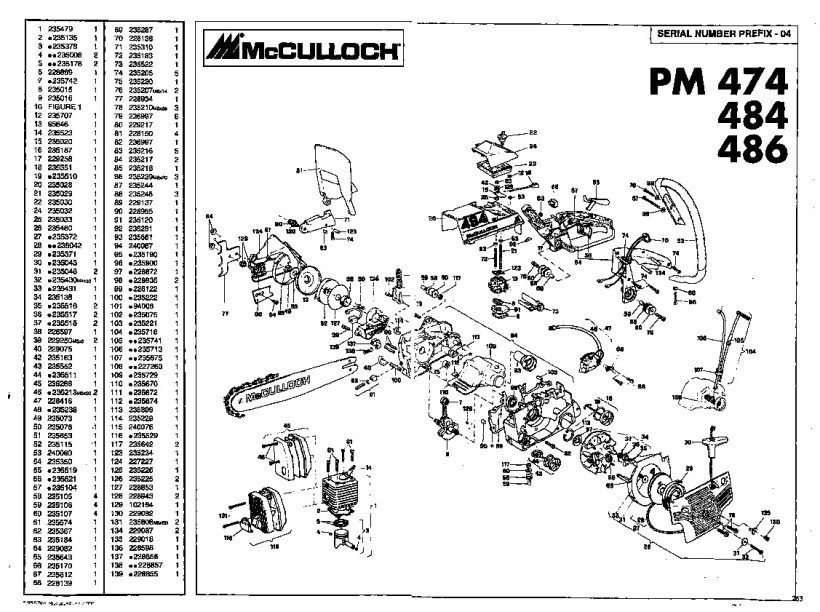 mcculloch chainsaw spare parts | Kayamotor co