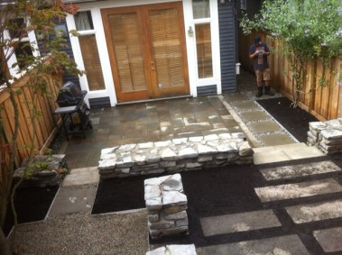 Yard hardscaping Vancouver contracting company.