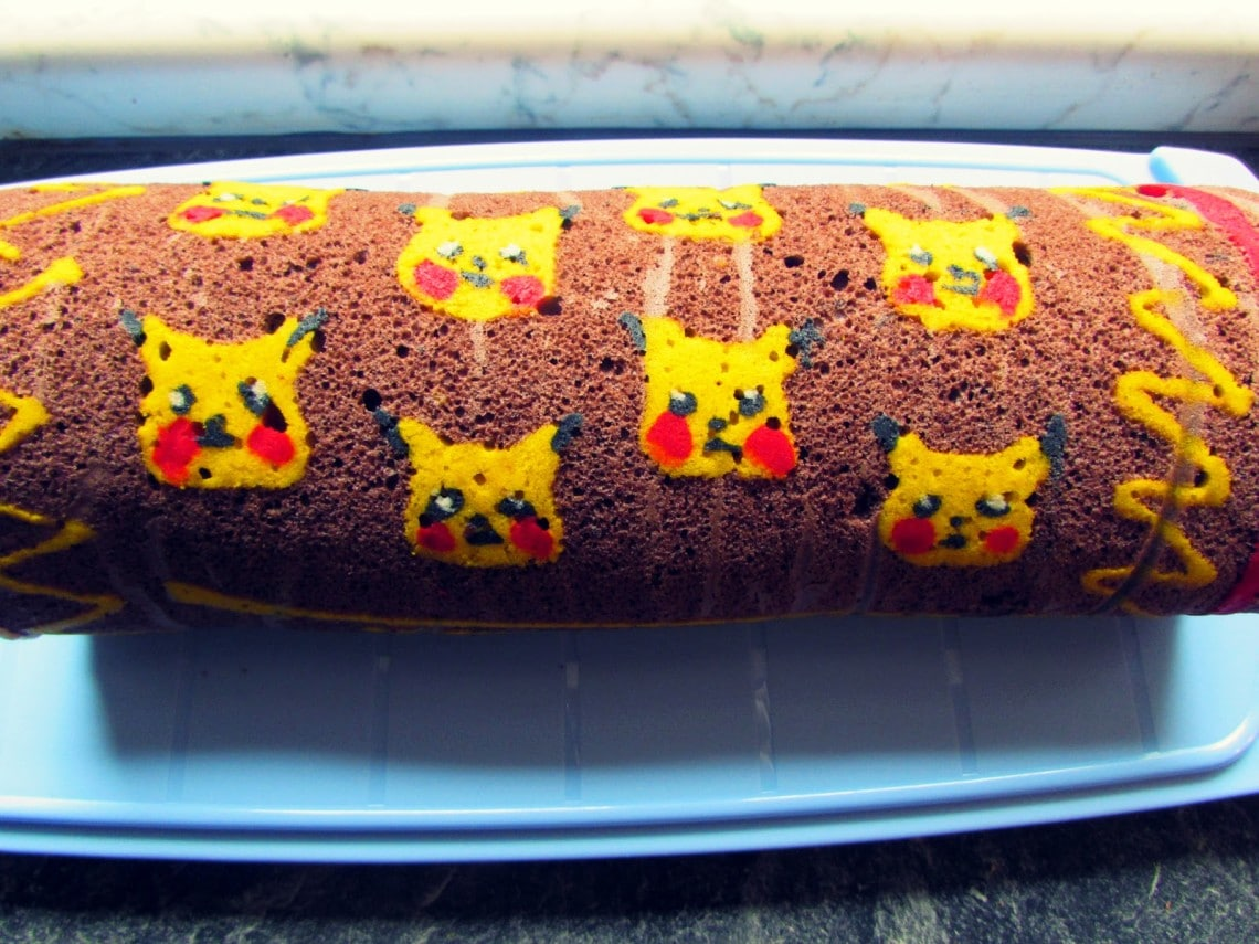 Pika Pikachu Patterned Roll Cake Law Of Baking