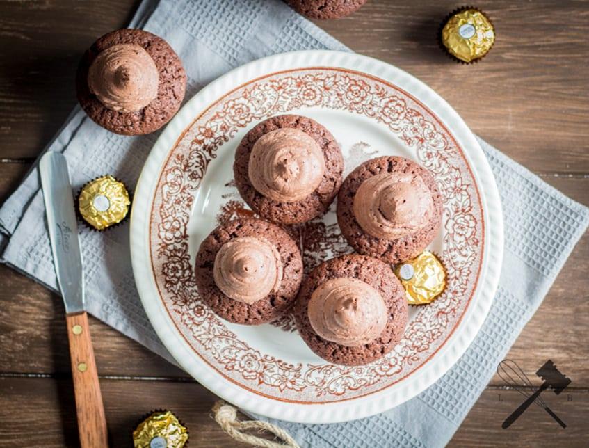 Schokolade Ferrero Rocher Cupcakes