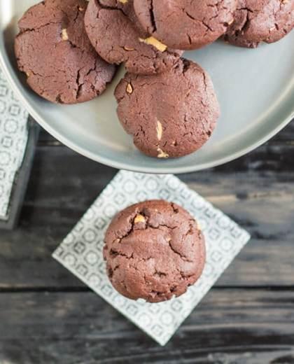 Schoko Erdnussbutter Cookies