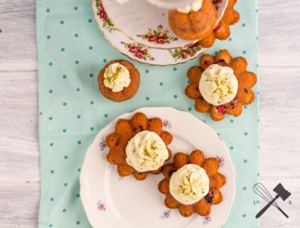 Früchtchen Küchlein mit Kürbis Mascarpone Creme