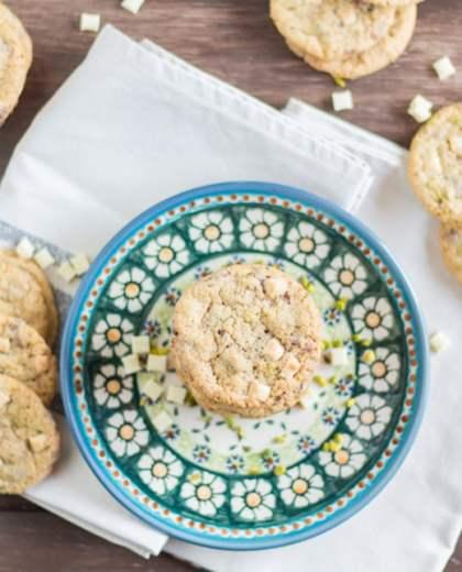 Cookies mit weißer Schokolade