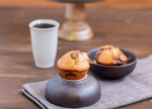 Erdnussbutter Muffins