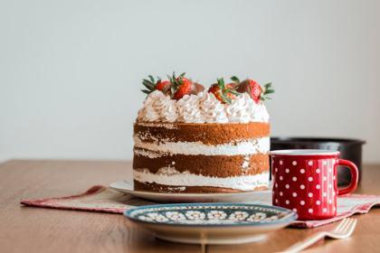 Erdbeer Naked Cake