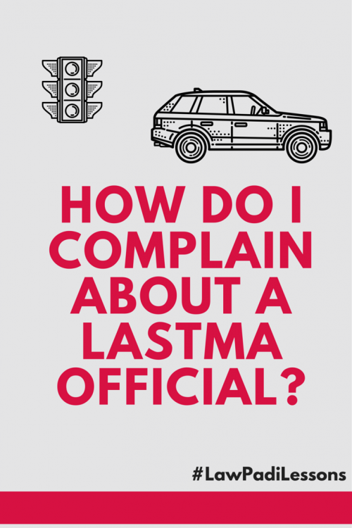 How to complain about a LASTMA official