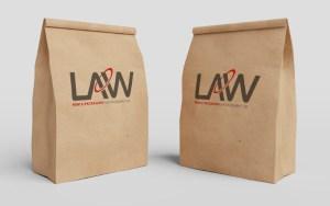 Kraft Paper Bag Law Print Pack