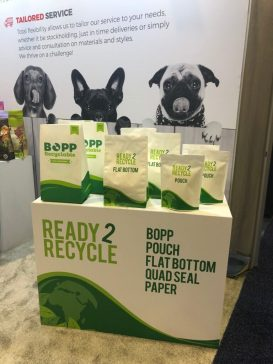 Display at Global Pet Expo showcasing our Ready 2 Recycle