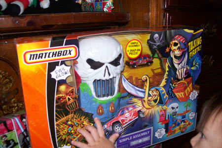 Matchbox talking pirate/skull mountain playset