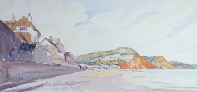 Sidmouth-byLawrenceDyer-co-uk-watercol-43x21cm