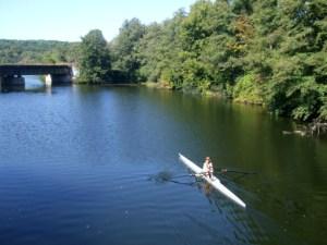 Sculling on Argo Pond