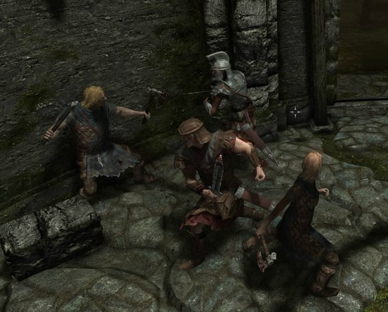 pic of Stormcloaks and Imperials fighting