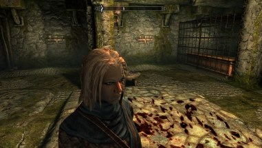 Deirdre in the torture chamber beneath Helgen