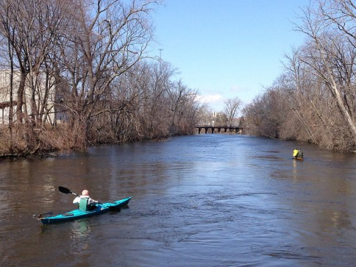Spring paddlers on the Grand River