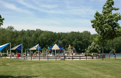 Splash zone at Hawk Island Park