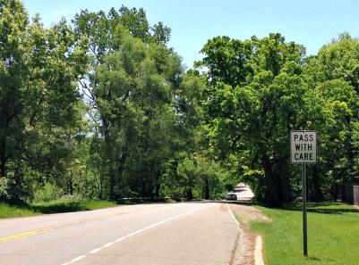 Turnaround point on Hickory Ridge Rd.