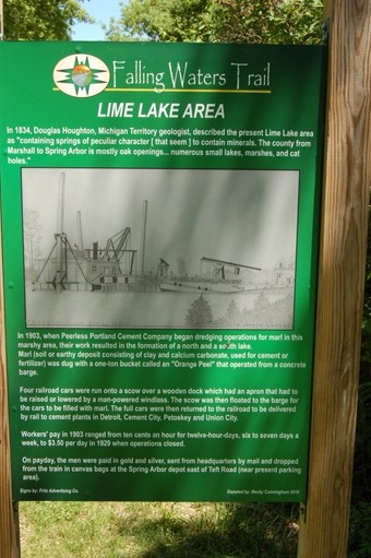 Lime Lake hisorical marker