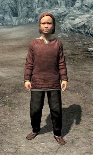 Pic of a child in Skyrim